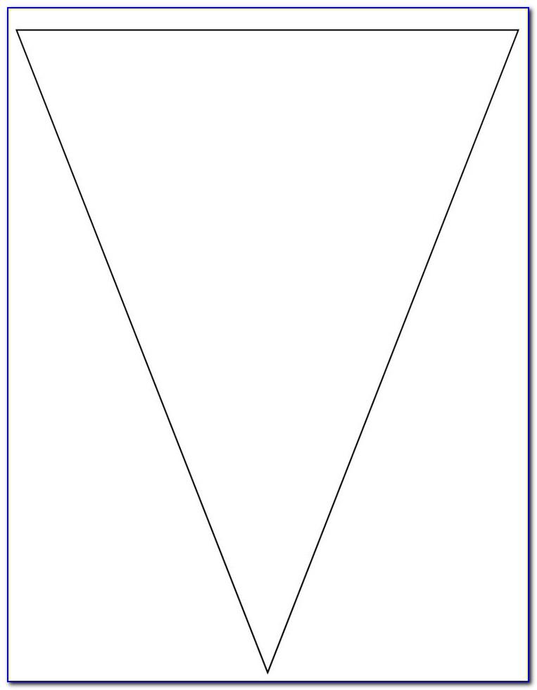 Pennant Banner Template Printable