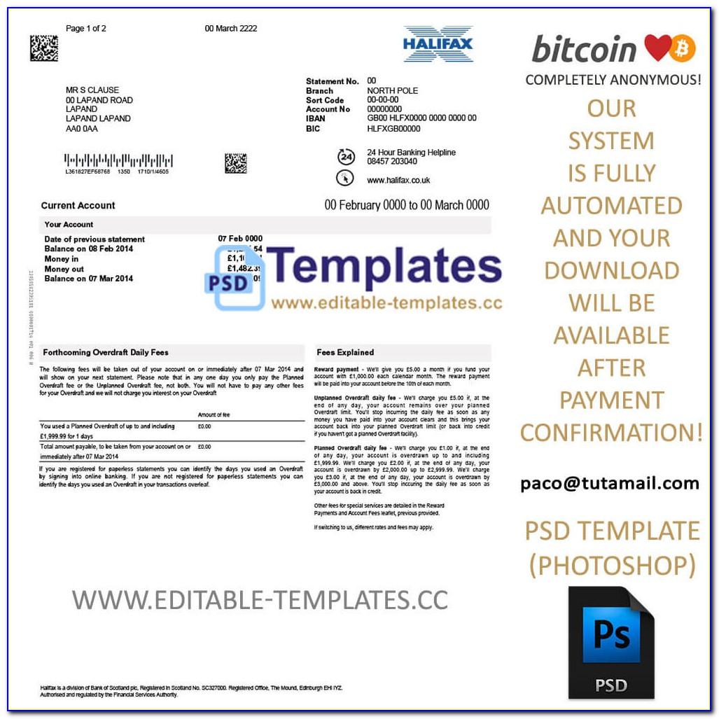 Sample Fake Bank Statement Online