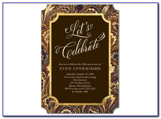 Sample Formal Invitation For An Event