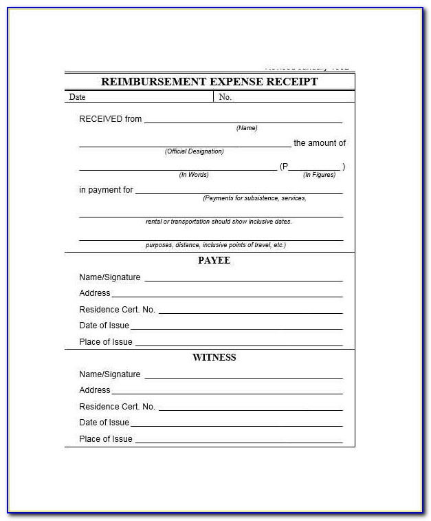 Travel Expense Report Form Word