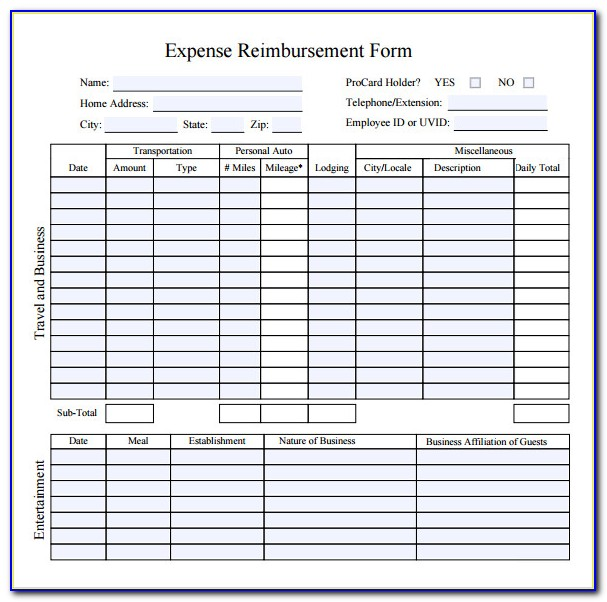 Travel Expense Report Template Excel 2013