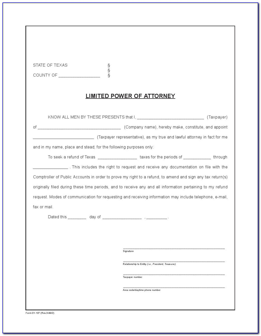 Blank Durable Power Of Attorney Form Virginia