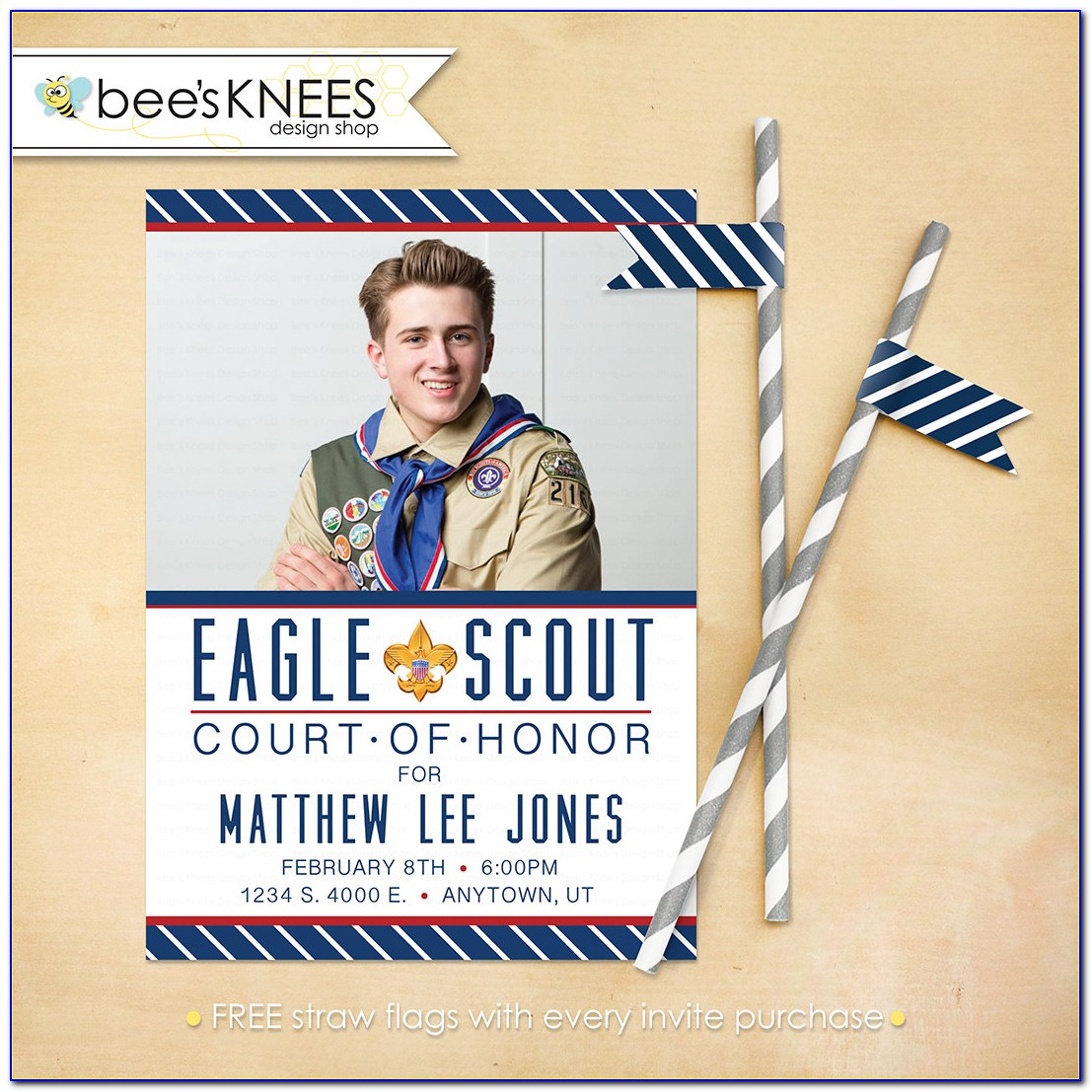 Boy Scout Eagle Court Of Honor Invitation Template