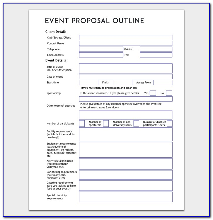 Corporate Event Planning Proposal Template