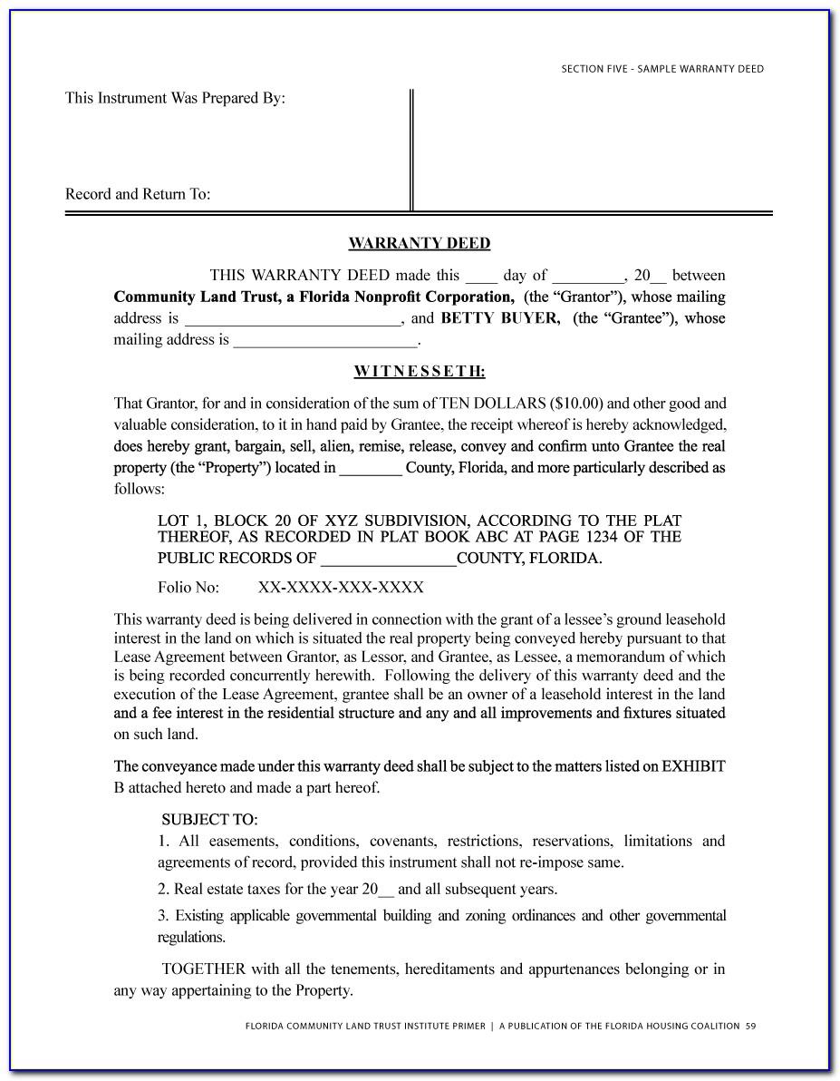 Deed Of Trust Document Uk