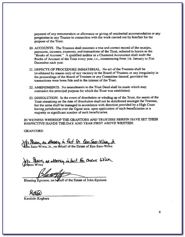 Deed Of Trust Example California
