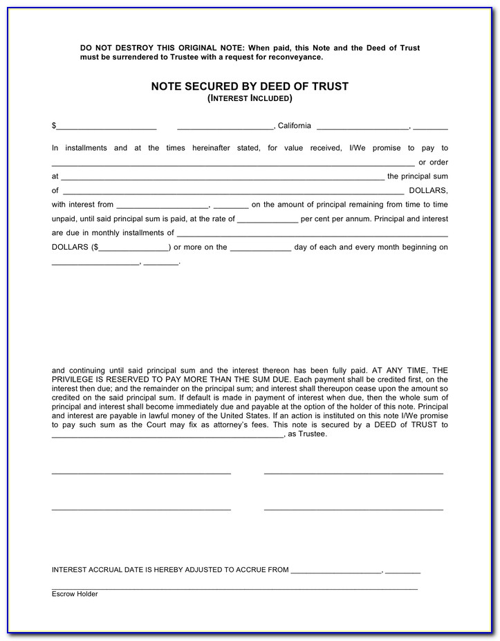 Deed Of Trust Example South Africa