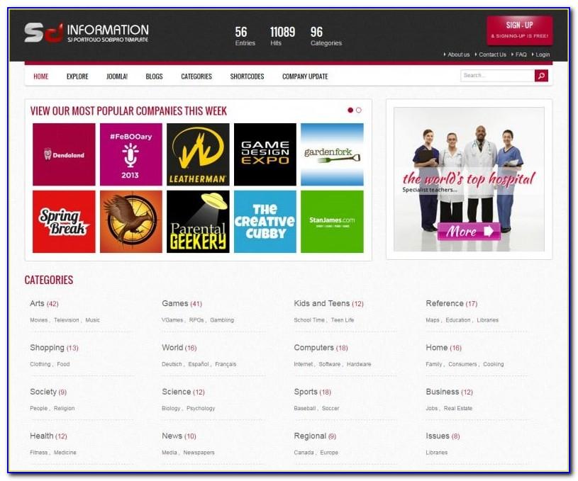 Directory Listing Template Joomla