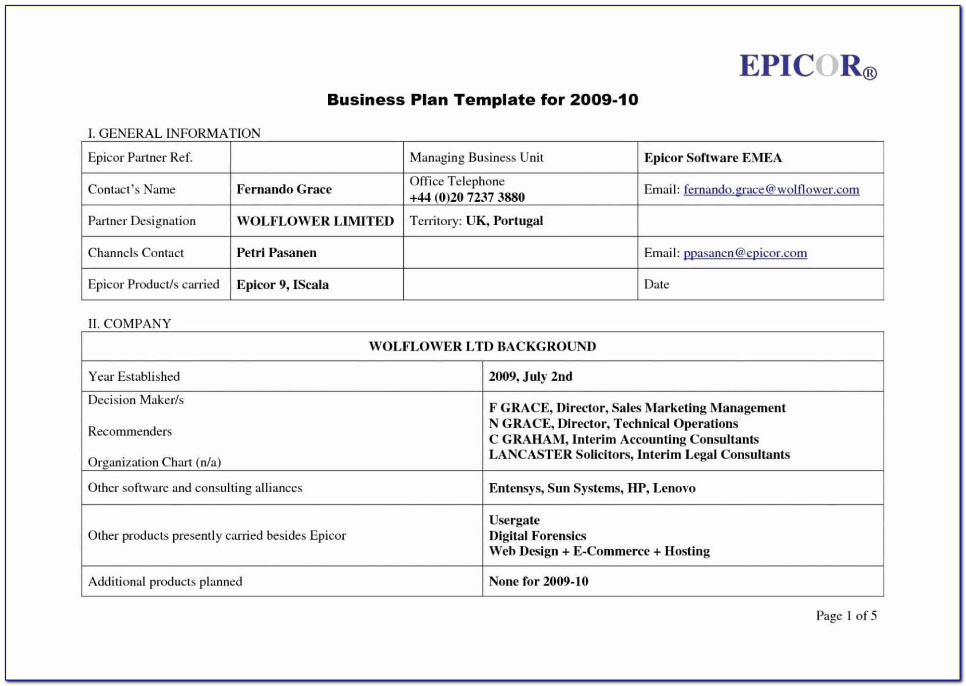 Disaster Recovery Plan Example Doc