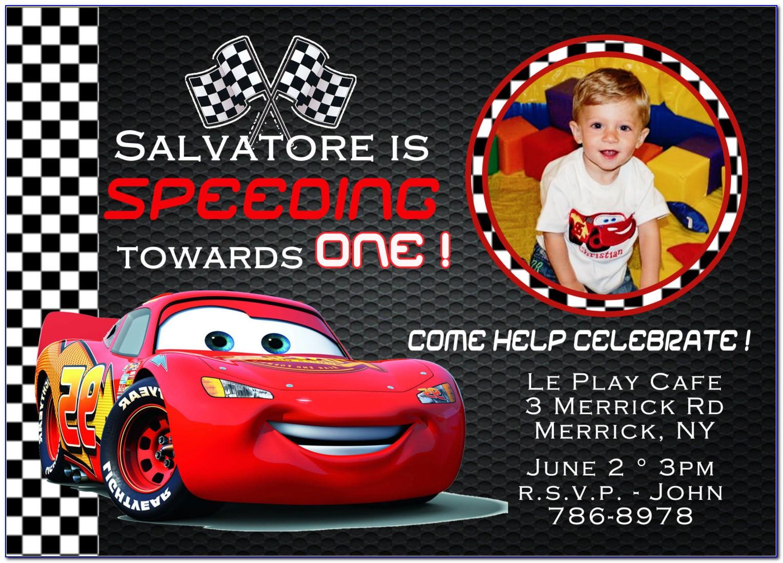 Disney Cars Birthday Invitation Template