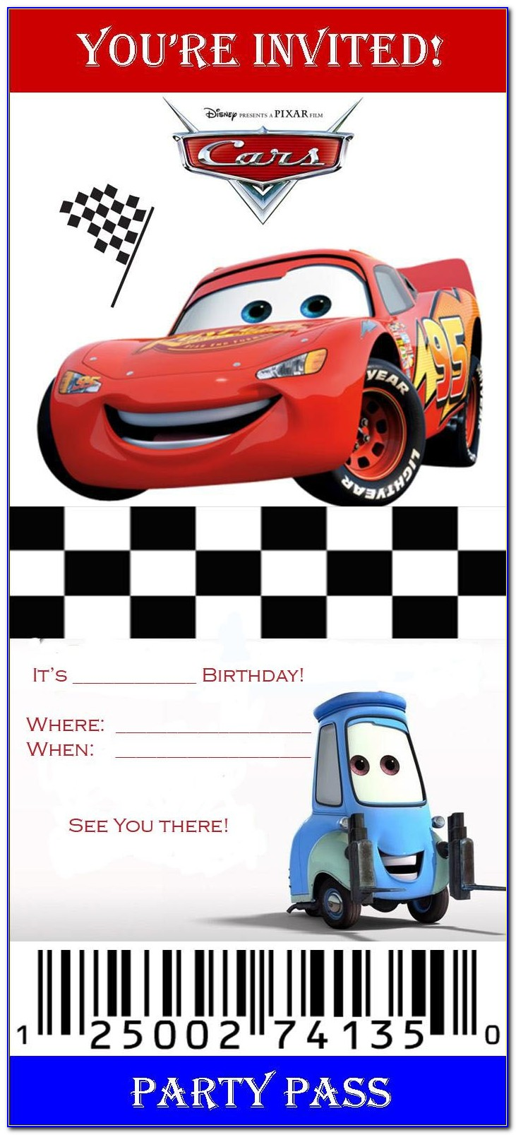 Disney Cars Invitation Maker Free