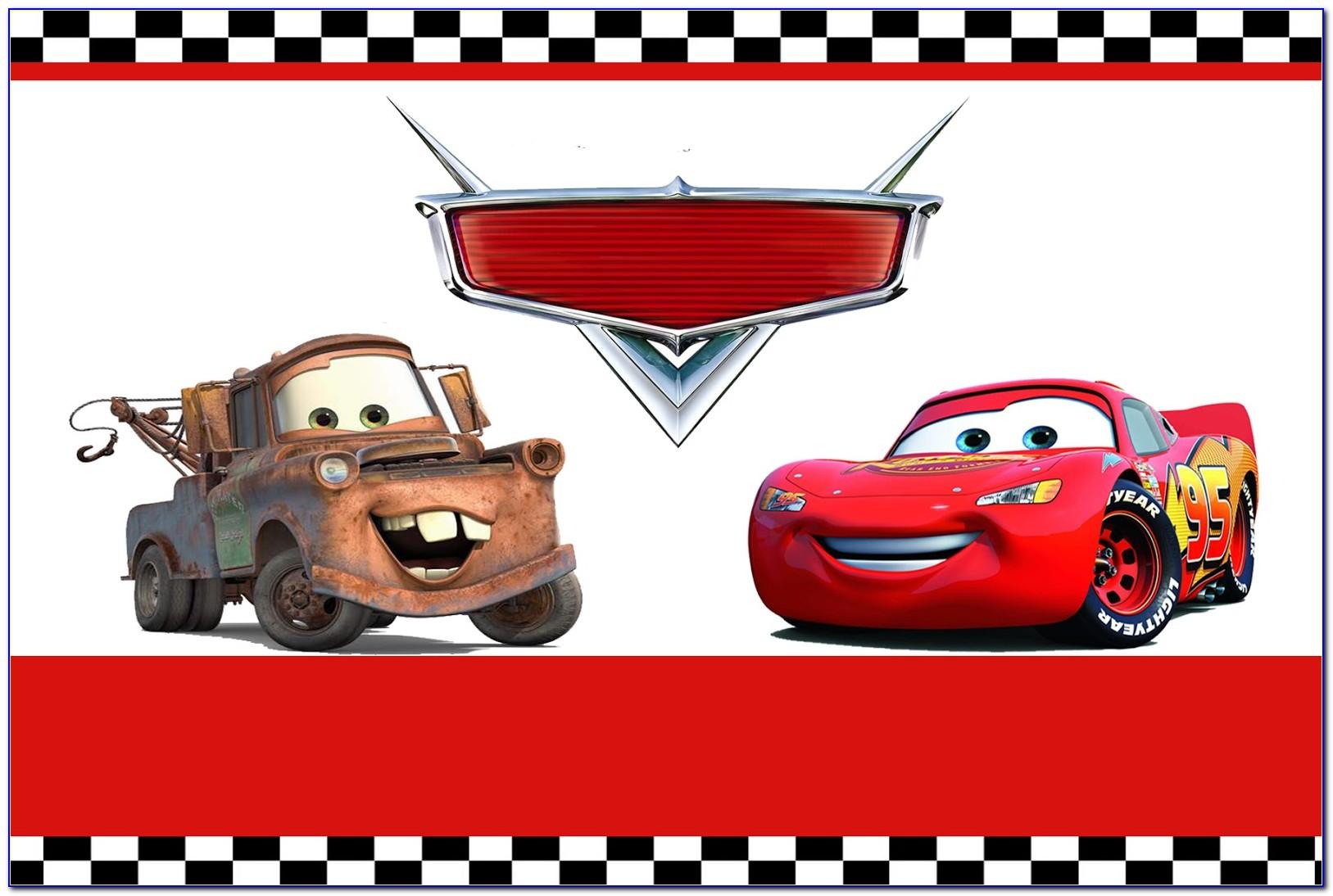 Disney Cars Invitation Template