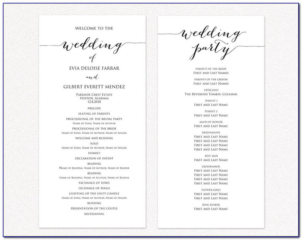 Diy Wedding Announcement Templates