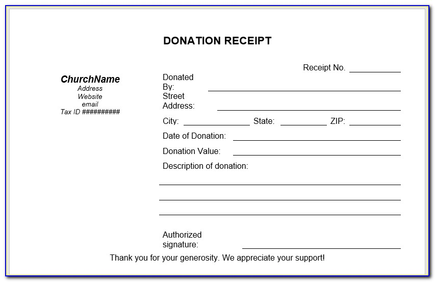 Donation Letter Template Pdf