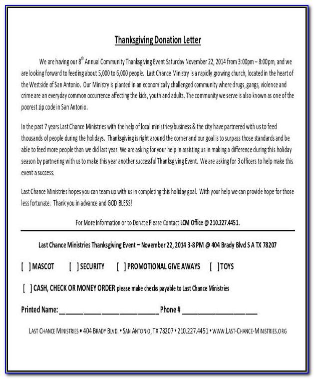 Donation Request Letter Sample Pdf