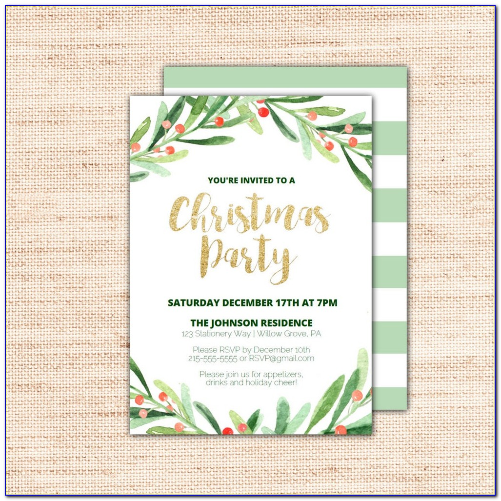 Download Christmas Party Invitations Templates