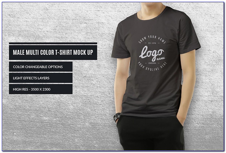Download Template Mockup T Shirt
