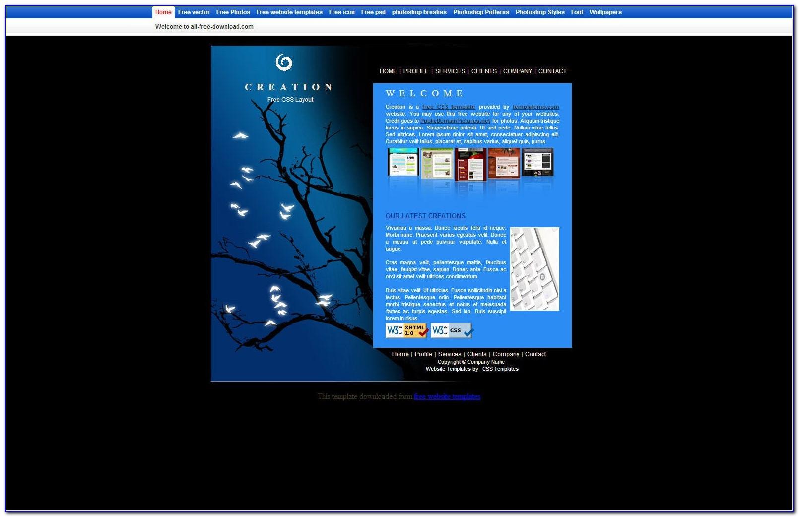 Dreamweaver Template Responsive Free