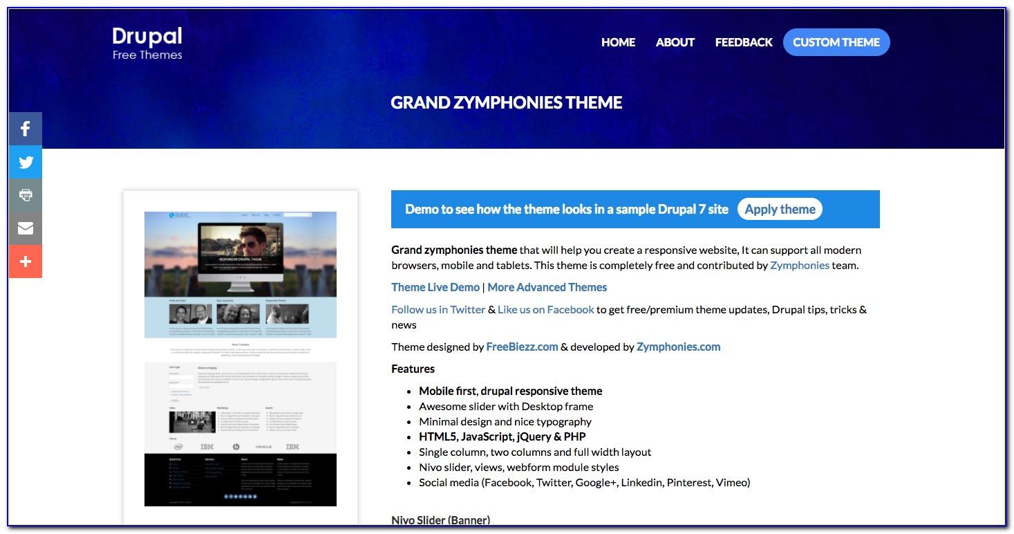 Drupal 7 Responsive Themes Free Download