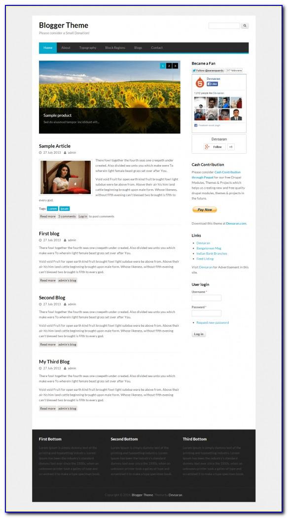 Drupal 7 Themes Free Responsive