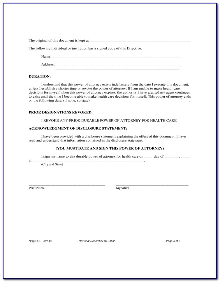 Durable Power Of Attorney Forms Texas