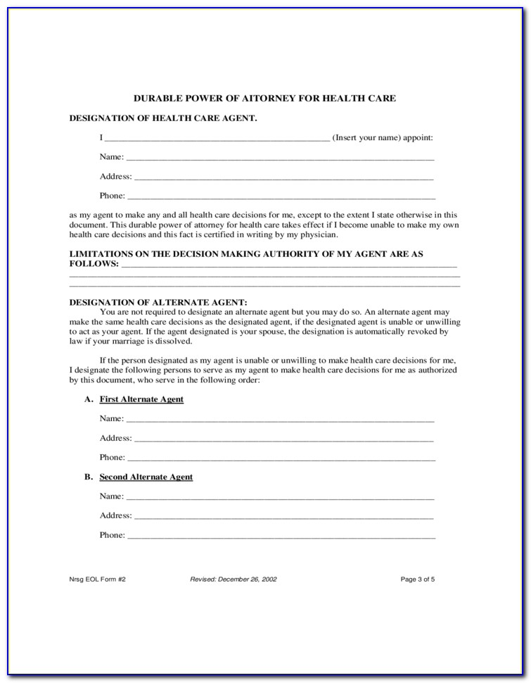 Durable Power Of Attorney Texas Form 2018