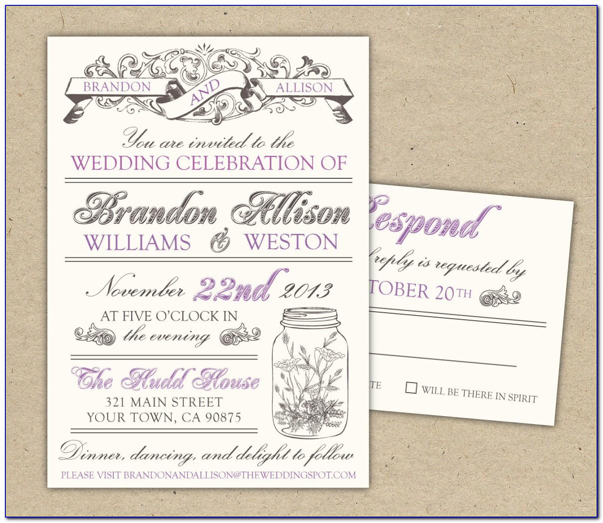 E Invitation Wedding Template Free