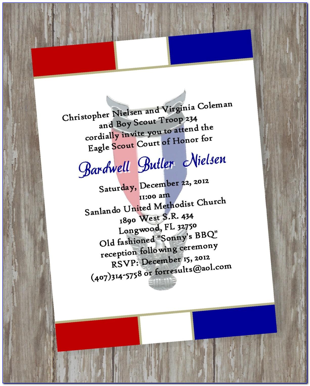 Eagle Scout Ceremony Invitation Template