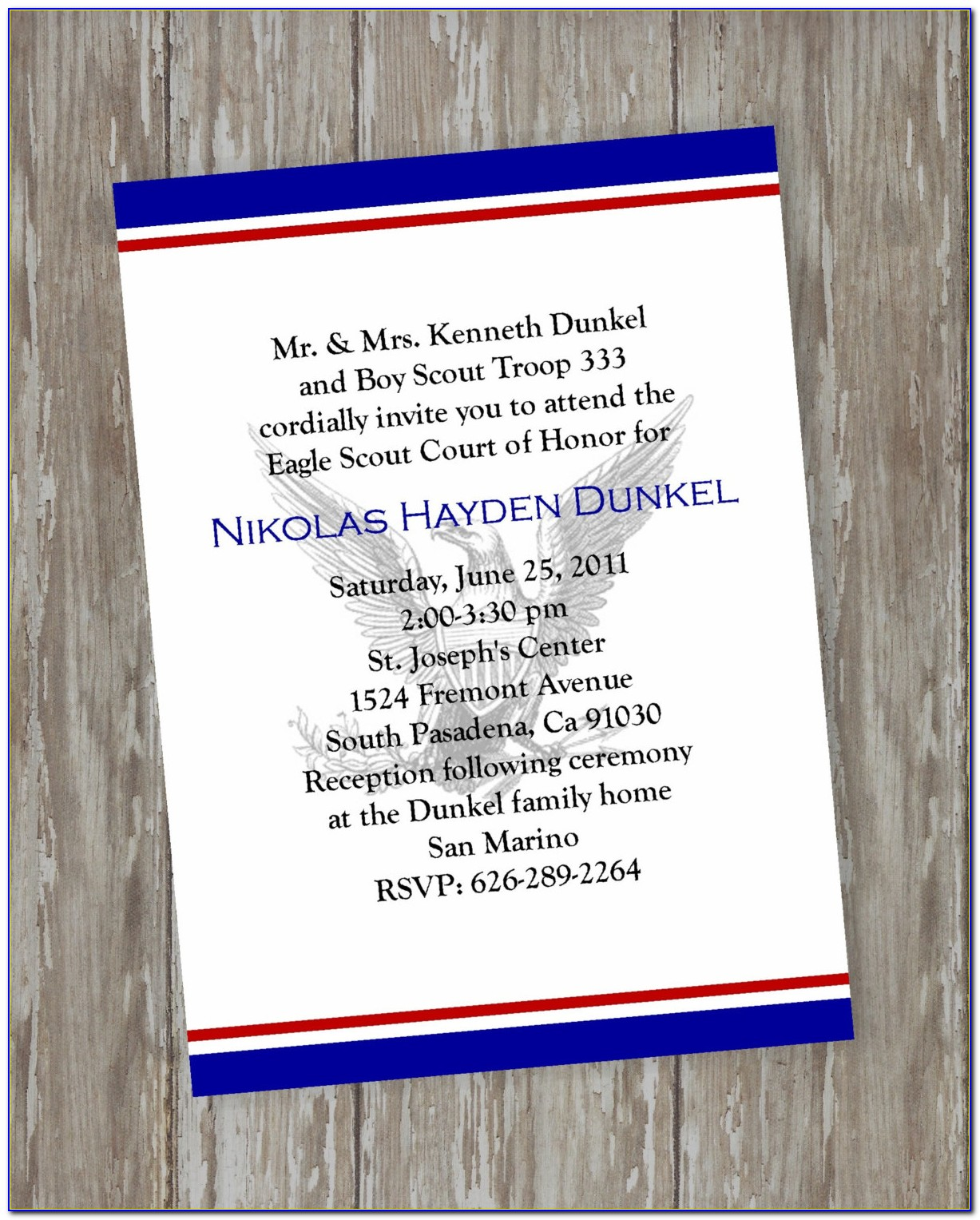 Eagle Scout Court Of Honor Invitation Template