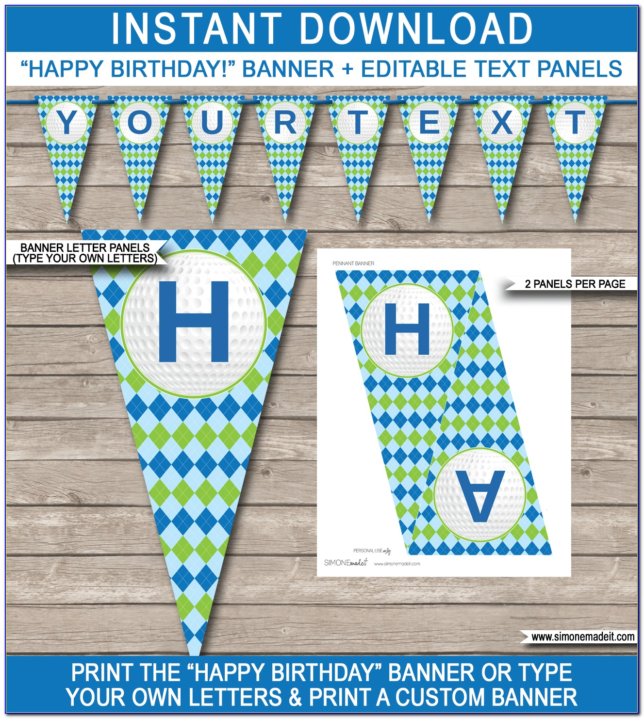 Editable Birthday Banner Template
