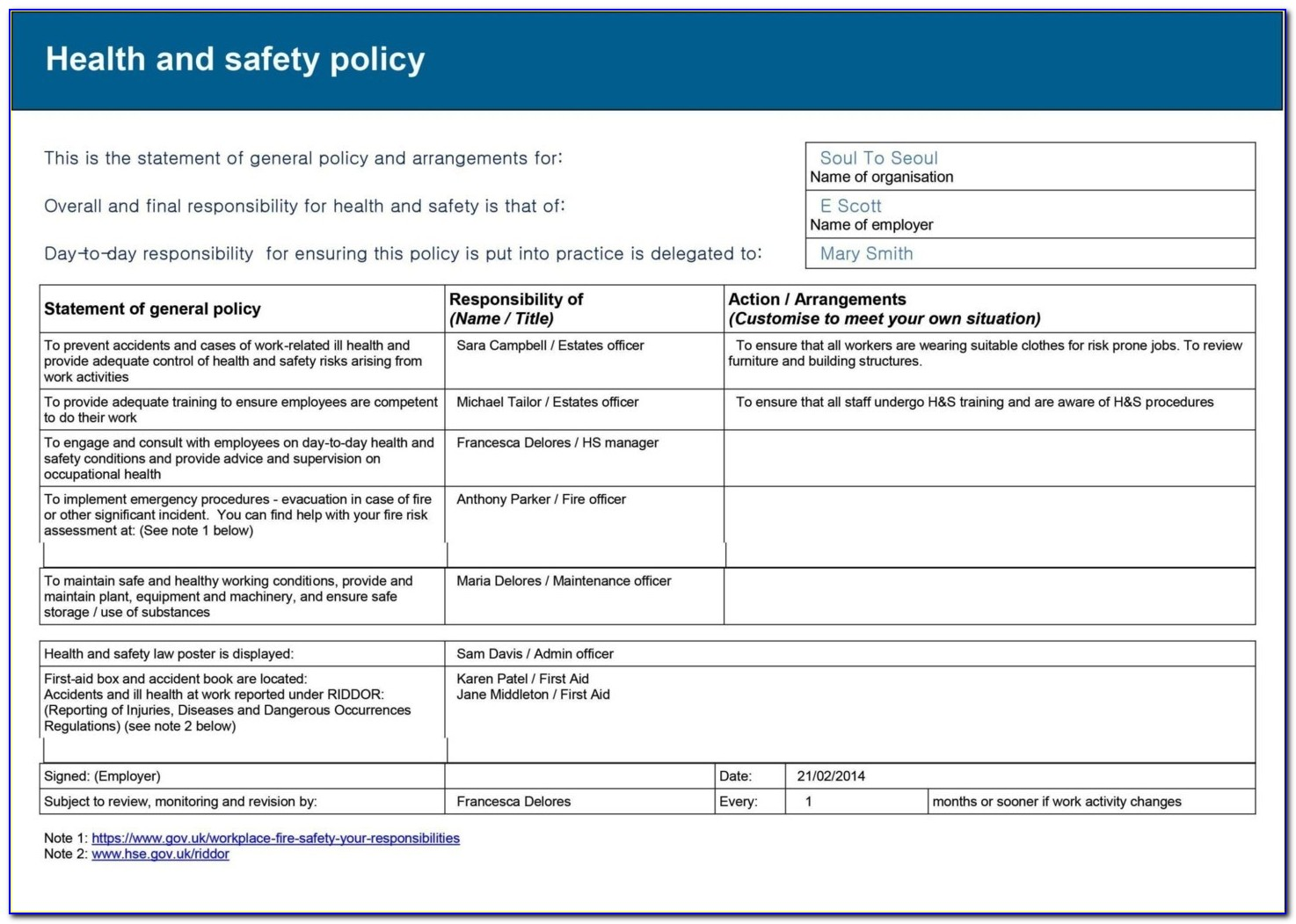 Electrical Installation Risk Assessment Template