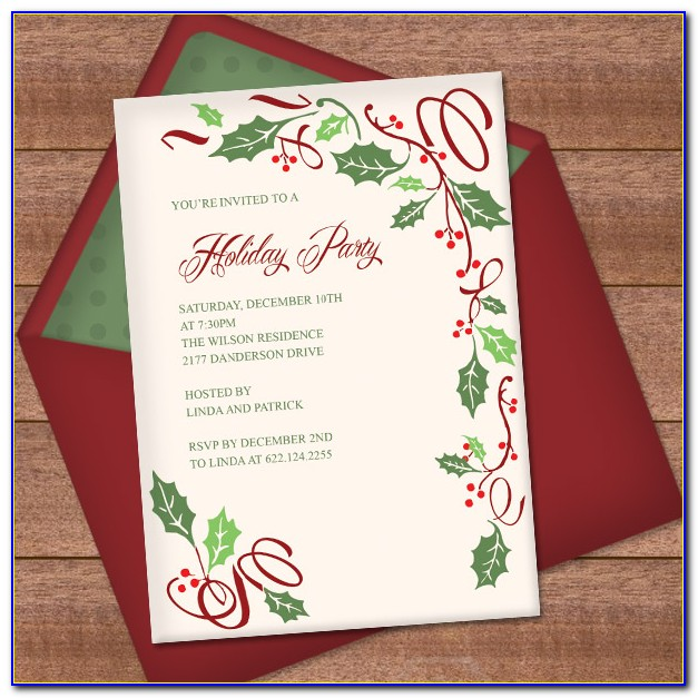 Elegant Christmas Party Invitation Templates