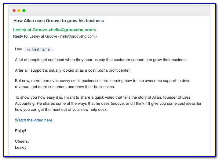 Emails To Customers Templates