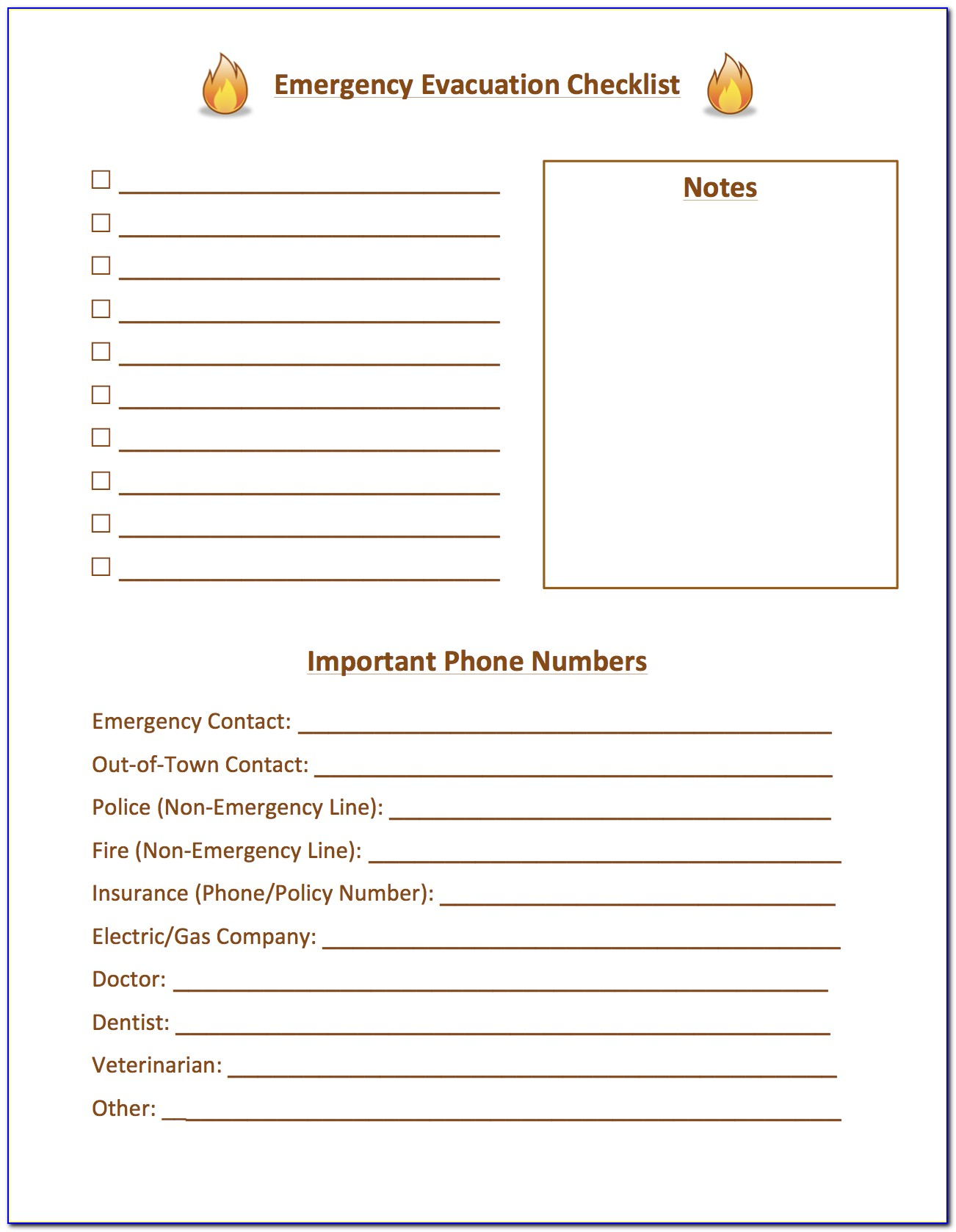 Emergency Disaster Plan Example