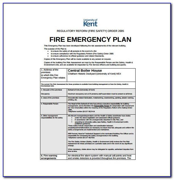 Emergency Disaster Plan Template