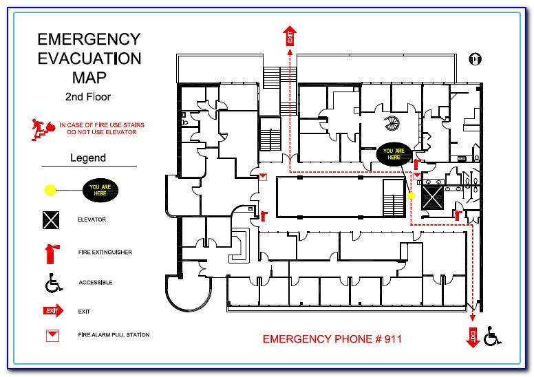 Emergency Evacuation Map Example