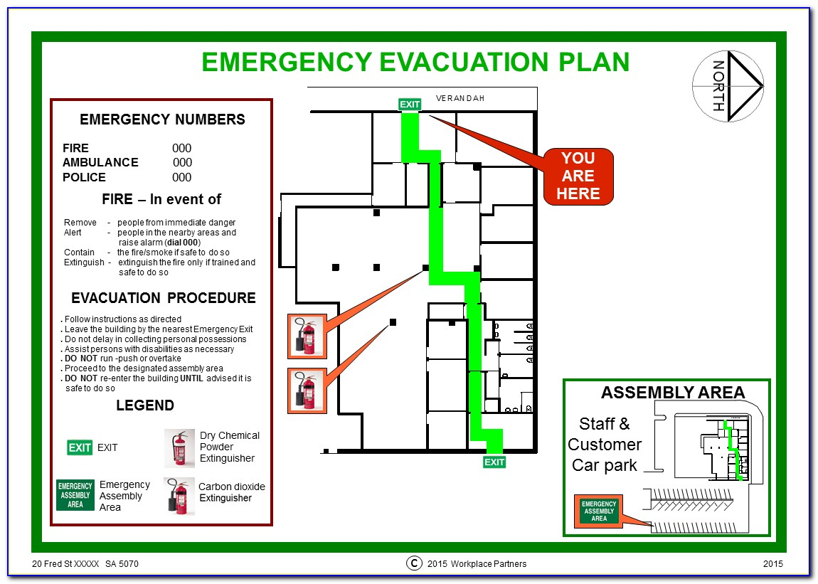 Emergency Evacuation Plan Example Australia