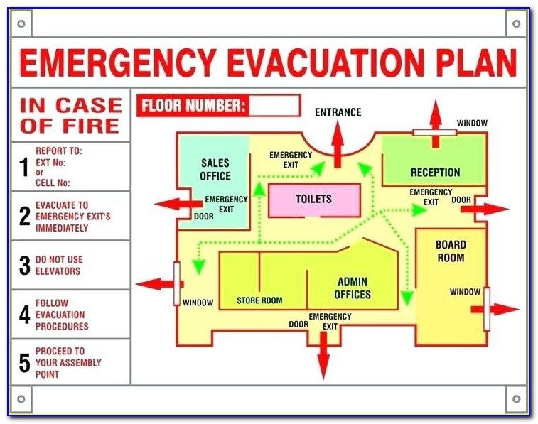 Emergency Evacuation Plan Template For Home