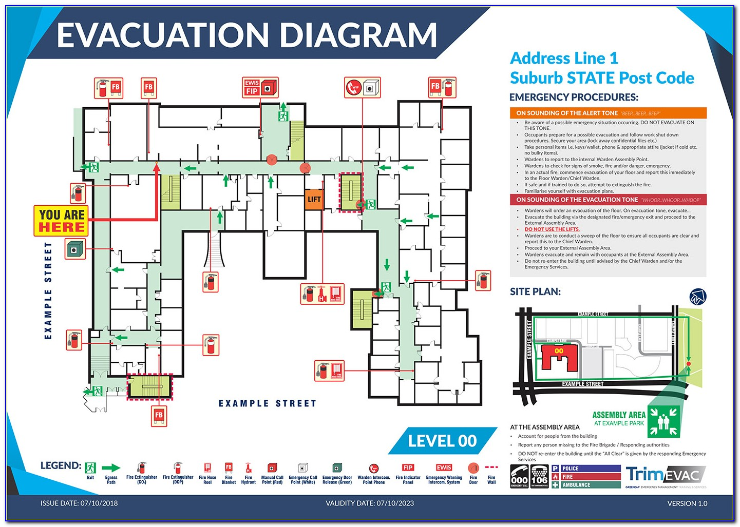 Emergency Evacuation Plan Template Qld