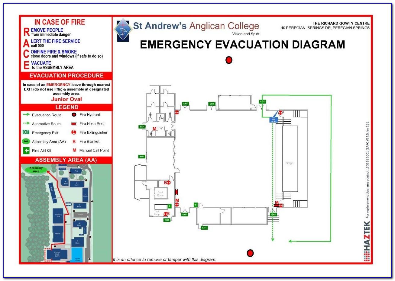 Emergency Evacuation Procedure Template Qld
