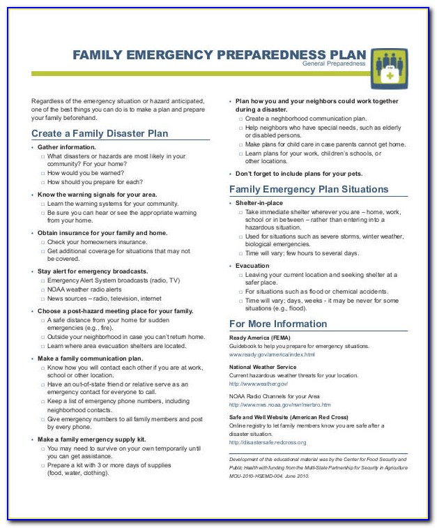 Emergency Management Communication Plan Template