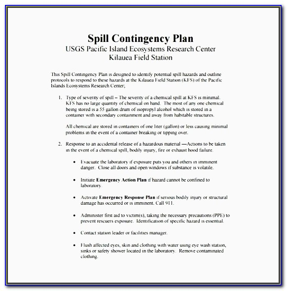 Emergency Preparedness Communication Plan Template