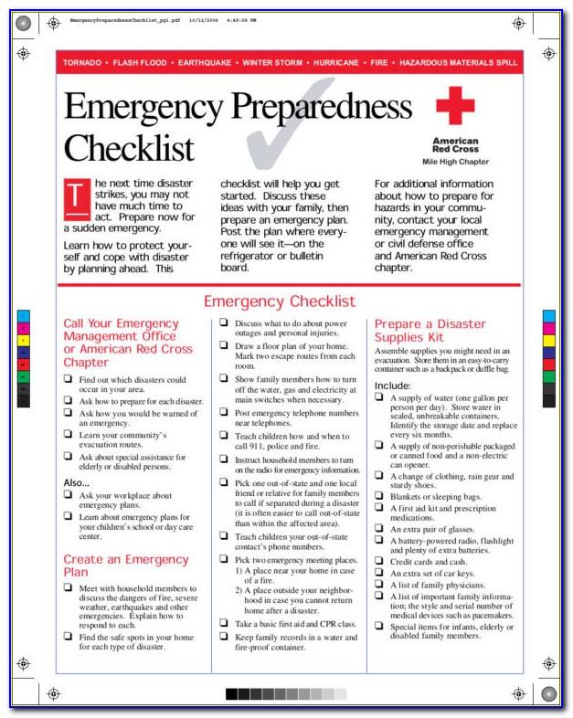 Emergency Preparedness Plan Outline