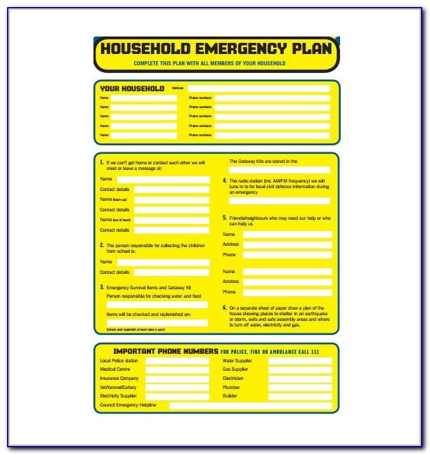 Emergency Preparedness Plan Template For Nursing Homes