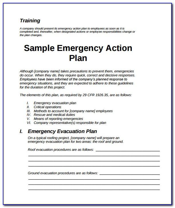 Emergency Preparedness Plan Template Home Health