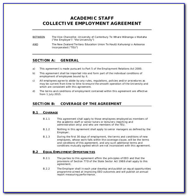 Employee Agreement Template Nz