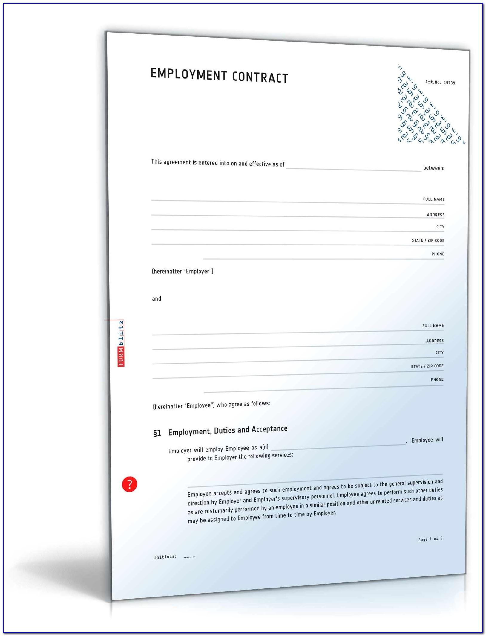 Employee Contract Sample Doc
