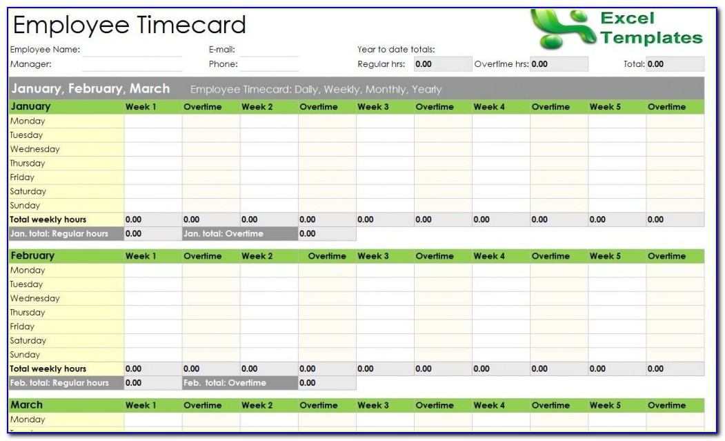 Employee Daily Attendance Record Template Excel