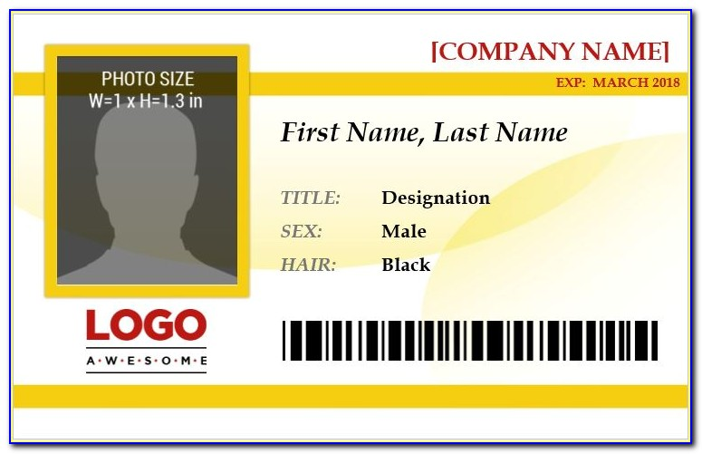 Employee Id Card Design Template Free Download