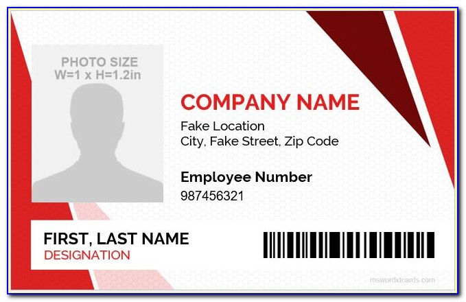 Employee Id Card Template Online Free